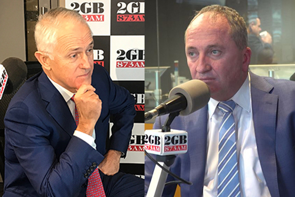Article image for Barnaby Joyce unleashes on Malcolm Turnbull for trying to wreck the government