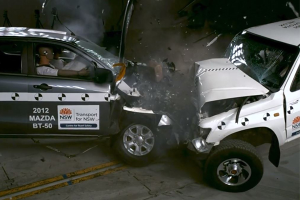 This footage proves just how important your car's safety rating is