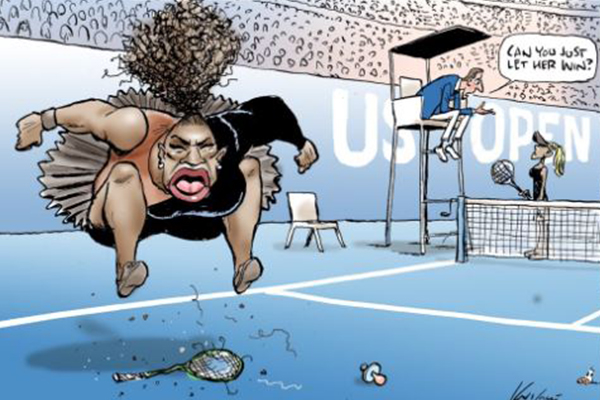Aussie cartoonist slammed over Serena Williams caricature