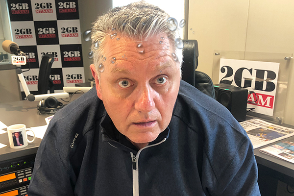Article image for 'Does this mean something significant?' Ray Hadley feels a 'flush' live on air