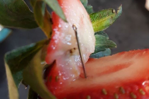Police arrest woman over strawberry contamination crisis