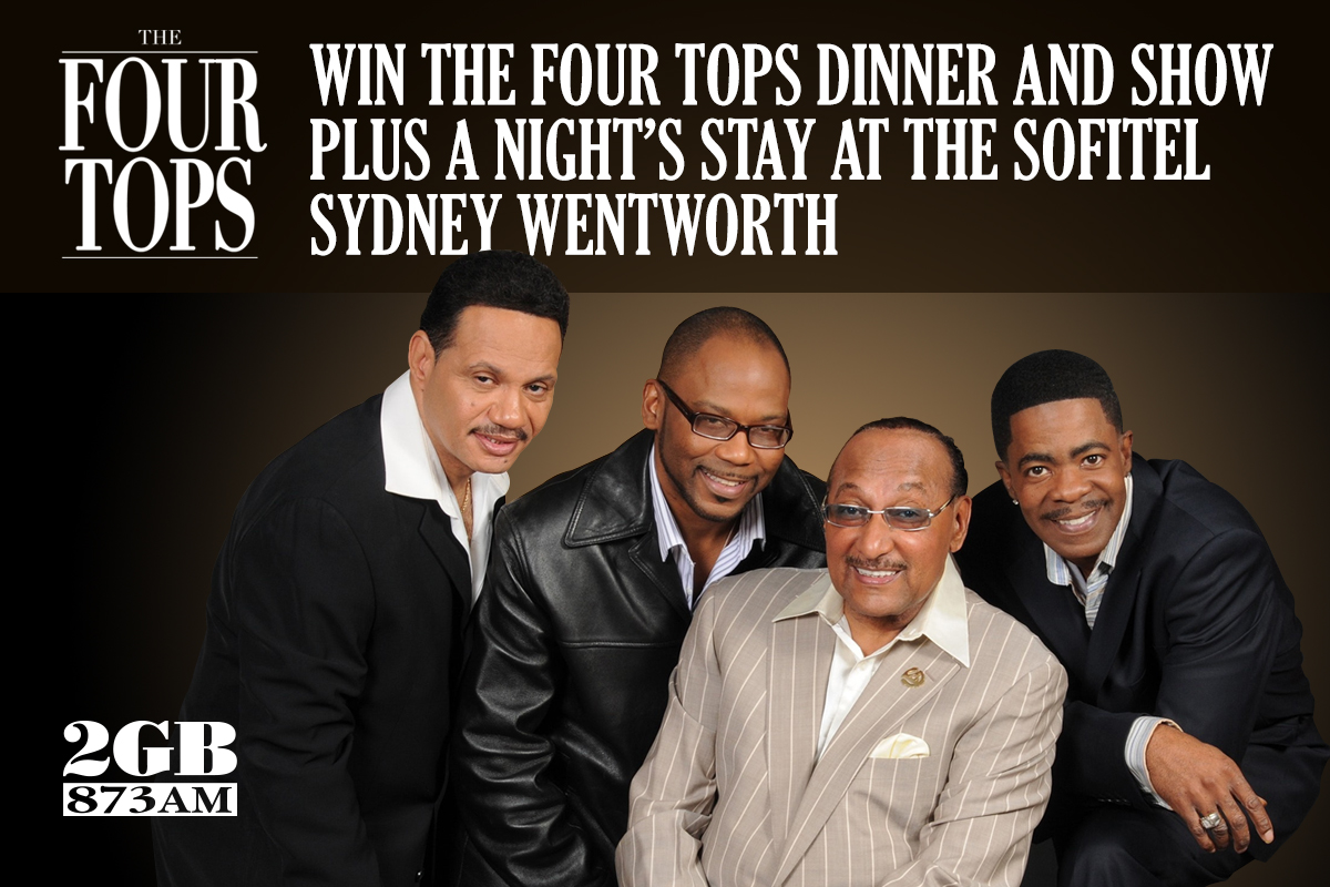 Win Tickets to The Four Tops Cabaret Dinner and Show