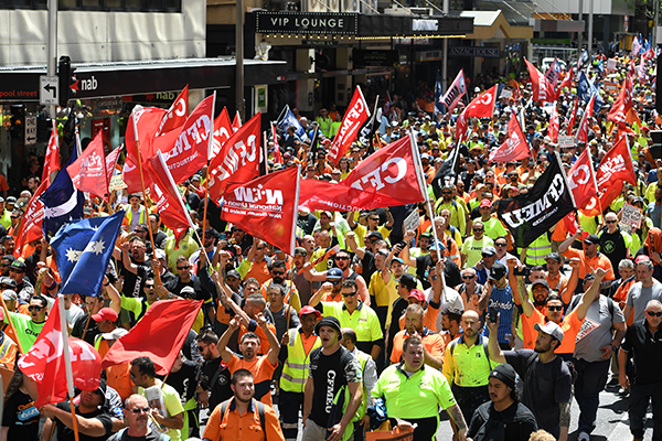 Union rallies 'a demonstration of militantunion power,' says Jobs Minister