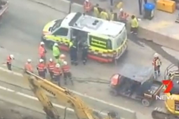 Article image for North Connex worker crushed by '1.5-tonne saw blade'