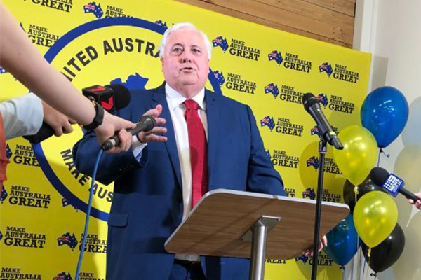 Article image for Clive Palmer gives fugitive nephew a new role