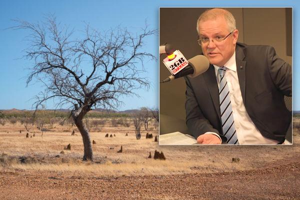 Article image for Minister slams Scott Morrison over 'missed opportunity' for drought-strickenfarmers