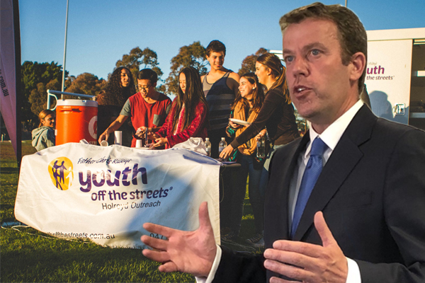 Article image for 'We are going to solve this today': Minister promises to fix Youth Off The Streets funding cuts