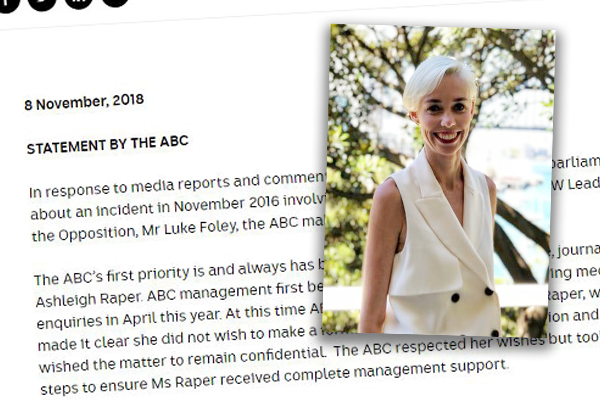 Article image for 'I want it to stop': ABC journalist Ashleigh Raper details explosive Foley allegations