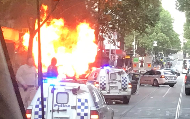 Article image for Chaos in Melbourne: Two dead, man with knife shot by police in 'terrorist' incident