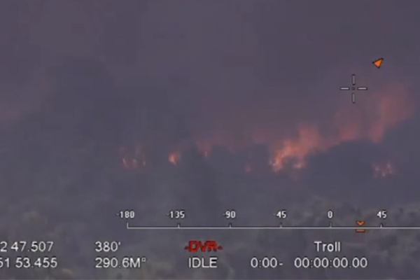 Article image for Warning issued after out of control bushfire erupts in NSW
