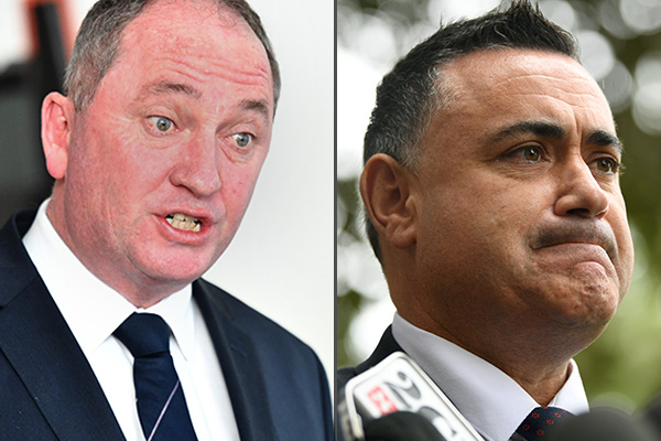 'You got snipers, you got targets and you got bullets': Barnaby Joyce hits back at Barilaro rumours