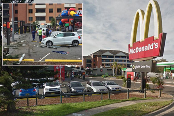 Article image for Truck in Wollongong McDonald's crash had 'faulty brakes'