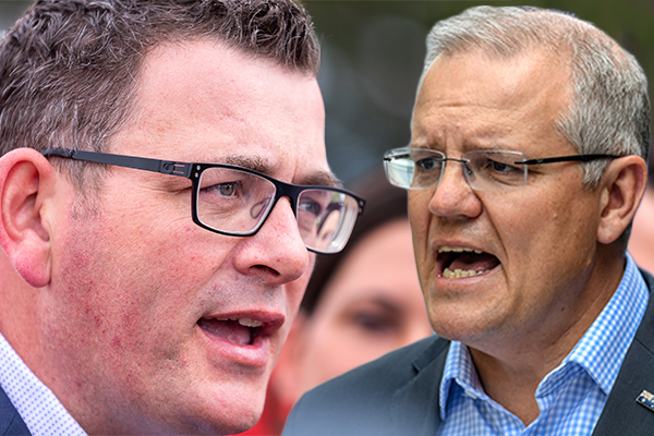 Article image for PM Scott Morrison takes a swing at Victorian Premier: 'I'd like to give him a few tips'
