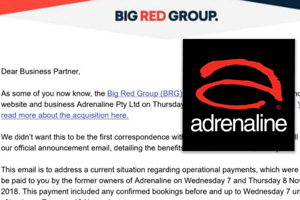 Adrenaline suppliers waiting on payments, told to take it up with 'old CEO'