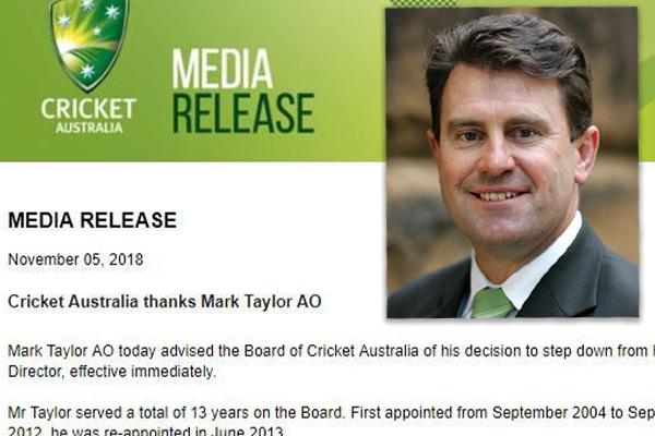 mark taylor explains why he resigned from cricket australia s board