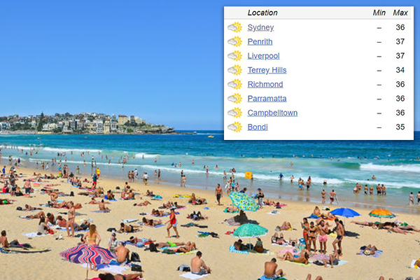 Temperatures soar in Sydney, total fire bans are in place