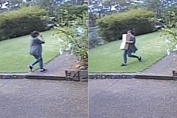 Article image for Thief busted: Woman caught stealing gifts from front door step