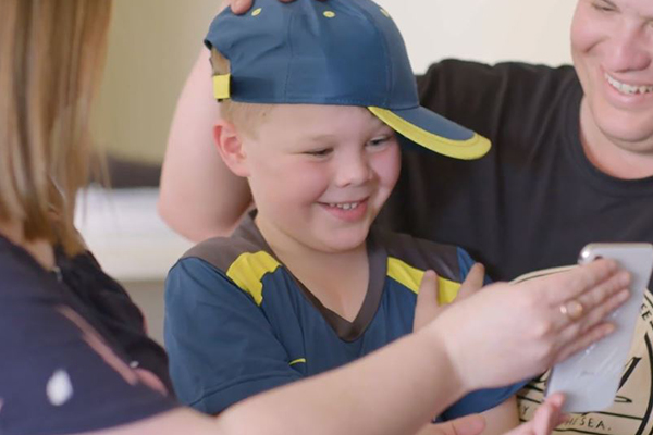 WATCH   Justin Langer makes young boy's one wish come true