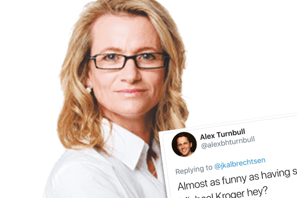 Article image for Alex Turnbull under fire for 'unsavoury, disgraceful' comments about female journo