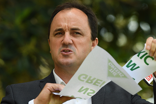 Article image for 'I hit a brick wall of stupidity': Embattled MP rips into the Greens as he quits the party