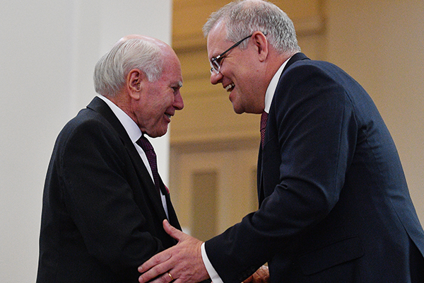 Article image for Prime Minister Scott Morrison reveals his close bond with John Howard