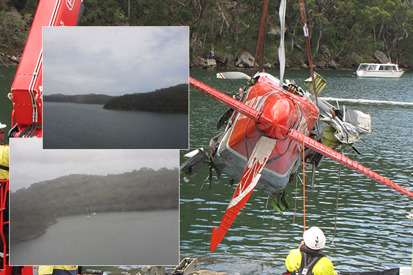 Chilling images from within doomed seaplane released