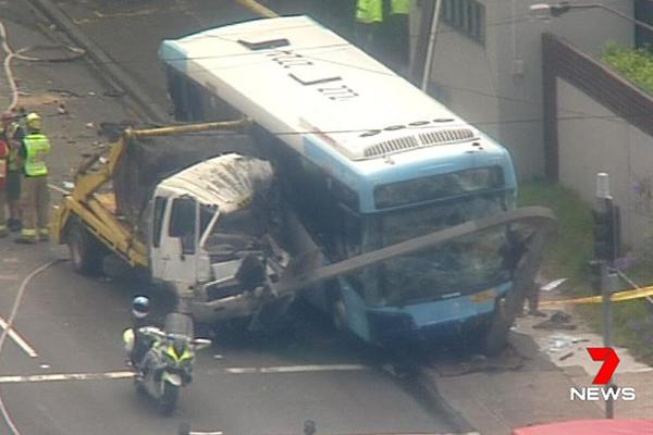Three hospitalised following horror multi-vehicle crash at Ryde