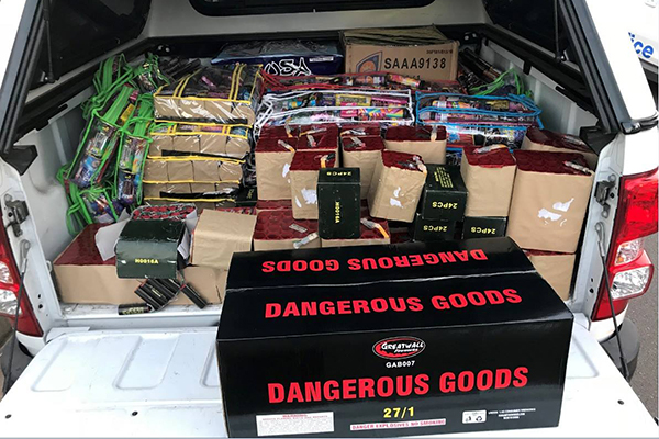 Article image for Man caught with huge stash of illegal fireworks