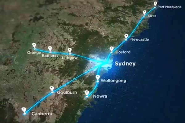 Article image for Federal MP backs 'brave' plan for east coast high-speed rail network