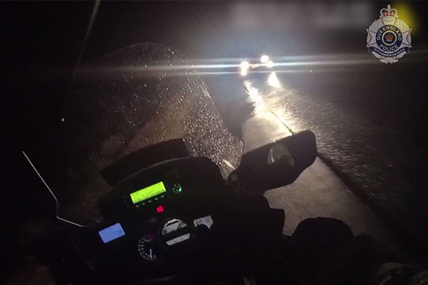 WATCH   Cop knocked off bike by allegedly stolen car