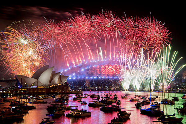 Article image for Sydney New Year's Eve celebrations not dampened by heavy rain