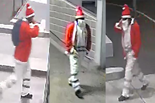 Police on the hunt for 'Bad Santa'