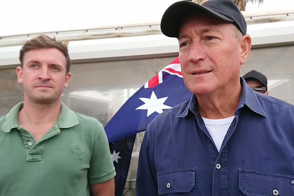 Tony Abbott condemns Senator Fraser Anning's 'extremist' protest