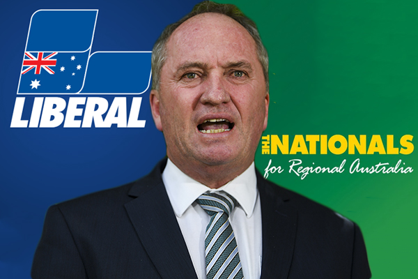 Article image for Barnaby Joyce calls for Liberals and Nationals to separate at the election