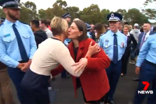 Article image for Premiers at peace: Gladys and Keneally filmed in rare show of friendship