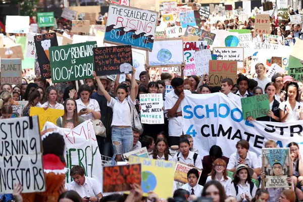 Article image for 'They need to go to school': Students stage more climate change strikes