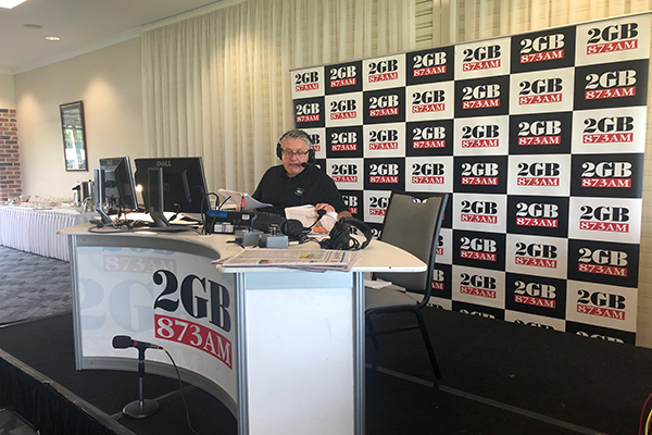 Ray Hadley broadcasts live from Hawkesbury Race Club