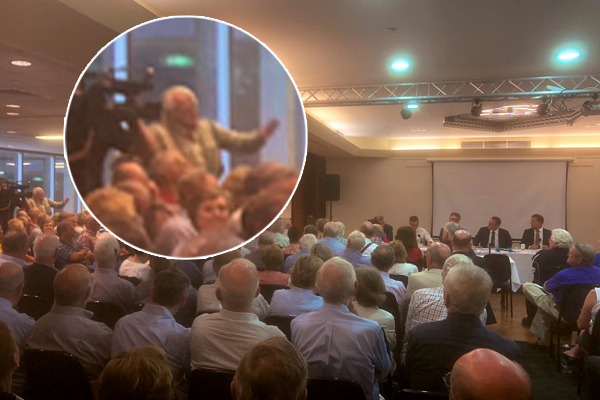Liberal MP Tim Wilson blows up at public heckler