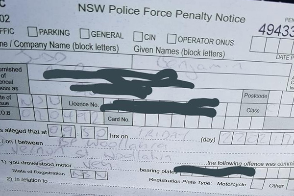 Man receives bizarre fine from police while buying a pie at the servo