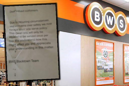 UPDATE | Woolworths takes down bottle shop's strange new policy
