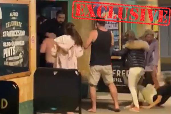 Shocking footage of vicious pub brawl