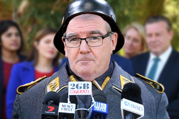 Hes The Sergeant Schultz Of Nsw Politics Treasurer Calls Michael