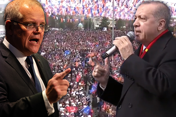 Turkish president threatens Australians, Scott Morrison responds