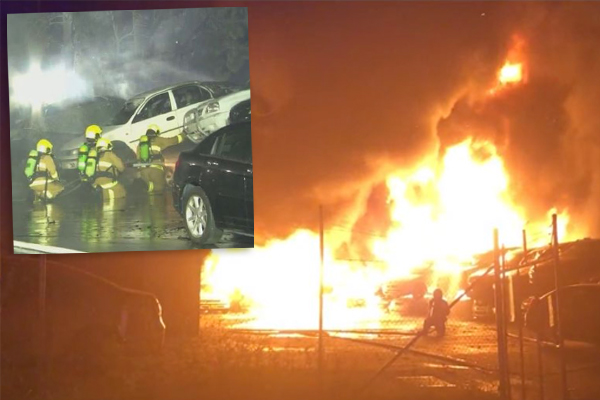 40 cars destroyed in western Sydney inferno
