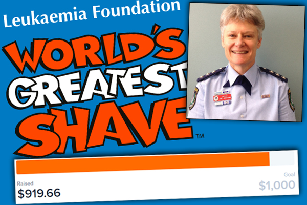 Female cop shaves head for charity after Ray's listeners stump up the cash