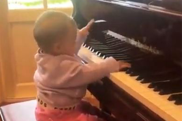 Article image for WATCH   Ray's baby granddaughter Ava playing piano