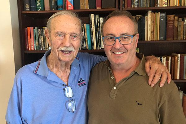 93-year-old veteran Austin Asche speaks about his service