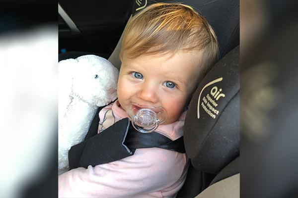 Ava in car seat