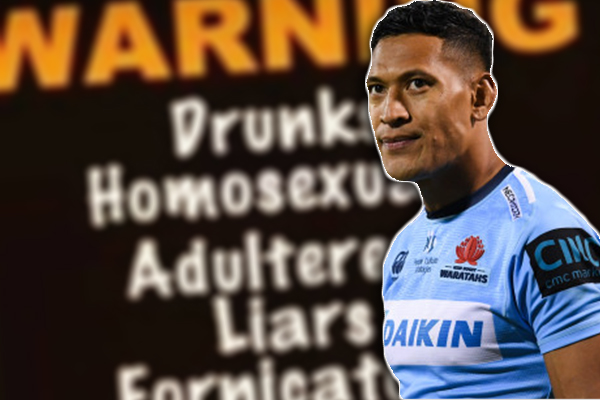 Article image for SACKED | Rugby Australia terminate Israel Folau's contract after homophobic rant