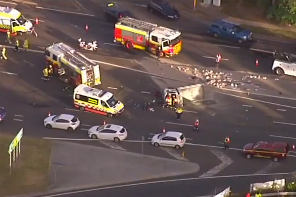 Article image for Major crash at Macquarie Park causing chaos on Sydney roads